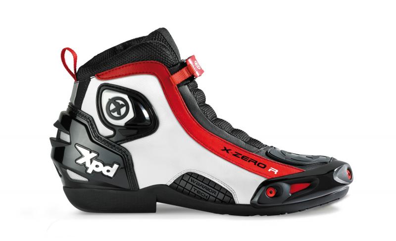 Boty na motorku XPD X-Zero R černo-bílo-červené Akce Boty ... b1b2d39224